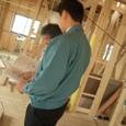 棟梁と技術営業さんとの打ち合わせ。