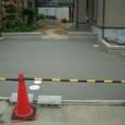 外溝工事(駐車スペース)。