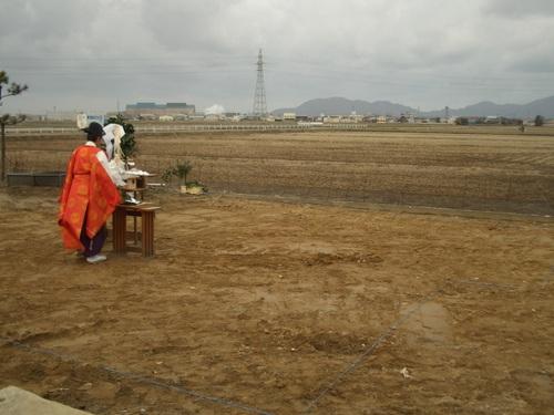 これから地鎮祭がはじまります。