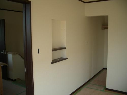 二階居室。7.5畳+3.5畳のウォークインクローゼット