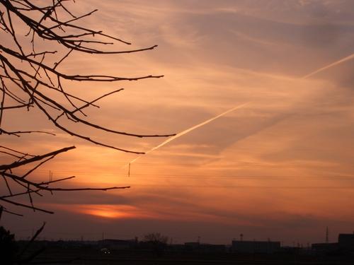 2007年・元旦の夕日。