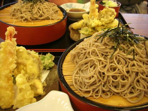 新潟県魚沼市松代「雲海」の天ぷら蕎麦