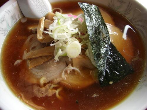 新潟市西蒲区「だいろの湯」しょうゆラーメン